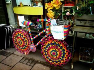 mill road yarnbombed bike