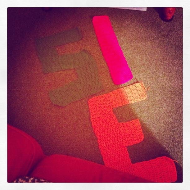 Crochet Lettering