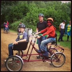 Family enjoying the festival