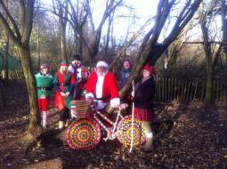 Bike and Santa