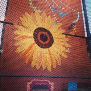 Sunflower Yarnbomb